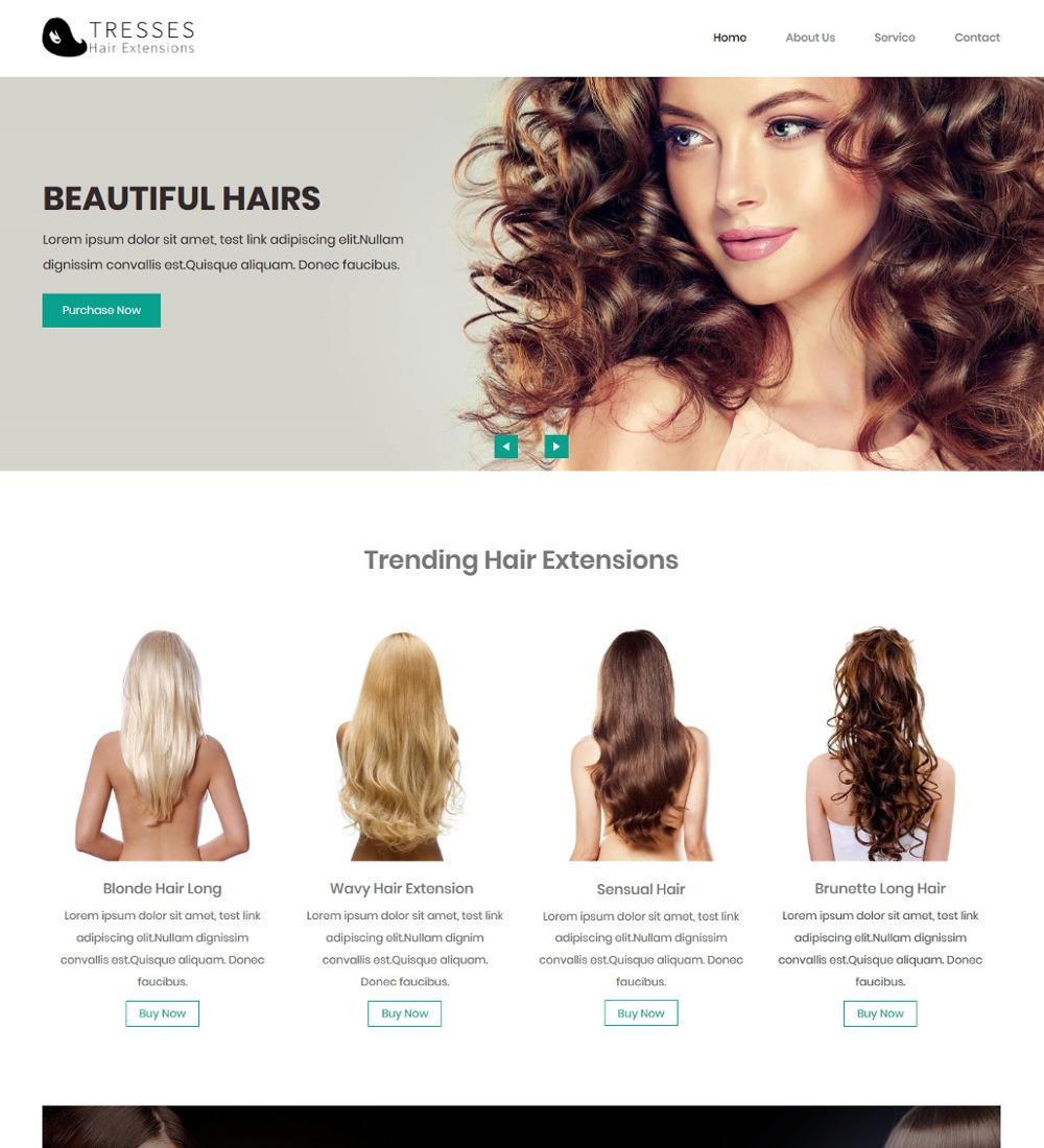 Tresses Hair Extension and Beauty Salon WordPress Theme
