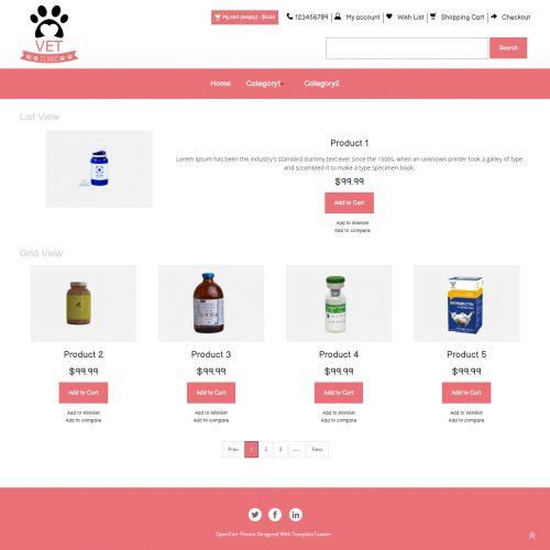 Vet Clinic - Pet Clinic Store OpenCart Theme