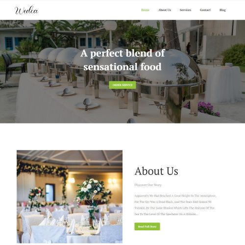 Wedca - A Wedding Planner & Catering Company Joomla Template