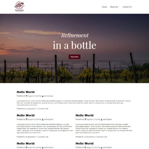 Wine Bar Shop Blogger Template