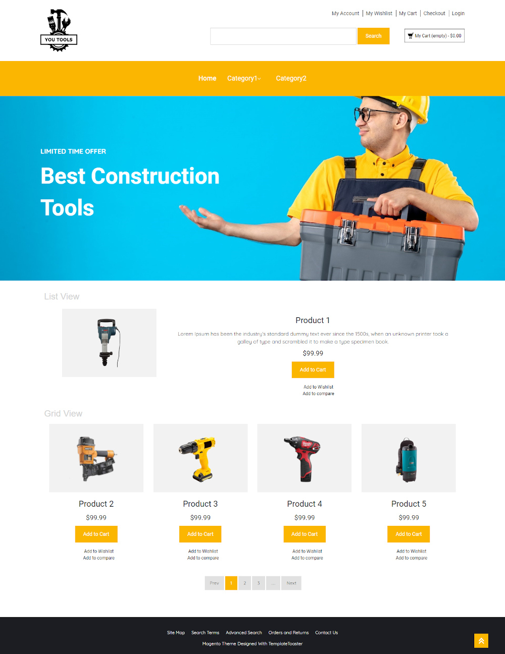 You Tools - Online Tools Store Magento Template