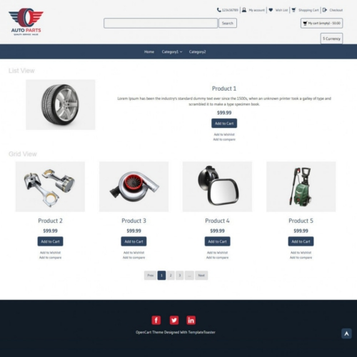 Car and Bikes OpenCart Themes