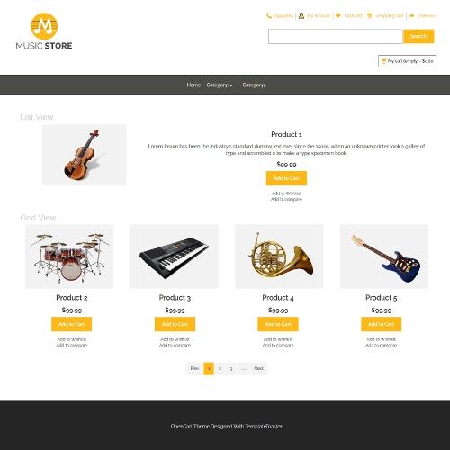 Entertainment OpenCart Themes