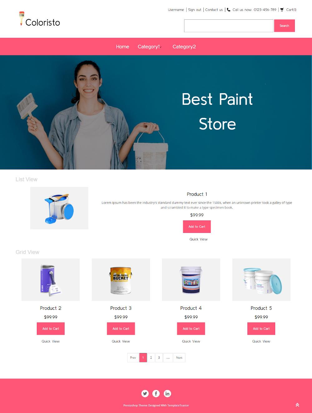 Coloristo - Online Paint Store PrestaShop Theme