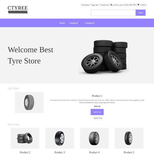Ctyree - Online Car Tyres Store PrestaShop Theme