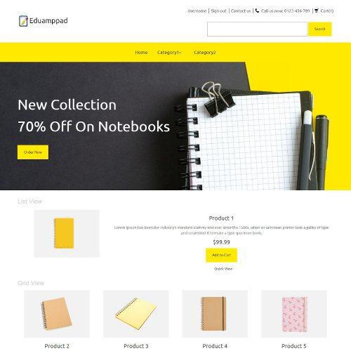 Eduamppad -Online Notebook Store PrestaShop Theme