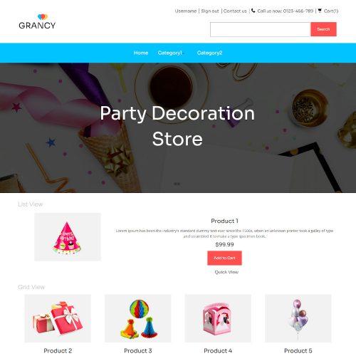 Grancy - Online Decoration Store PrestaShop Theme