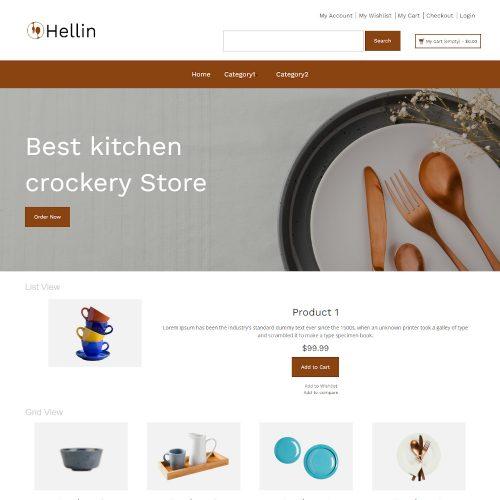 Hellin - Online Crockery Store Magento Theme