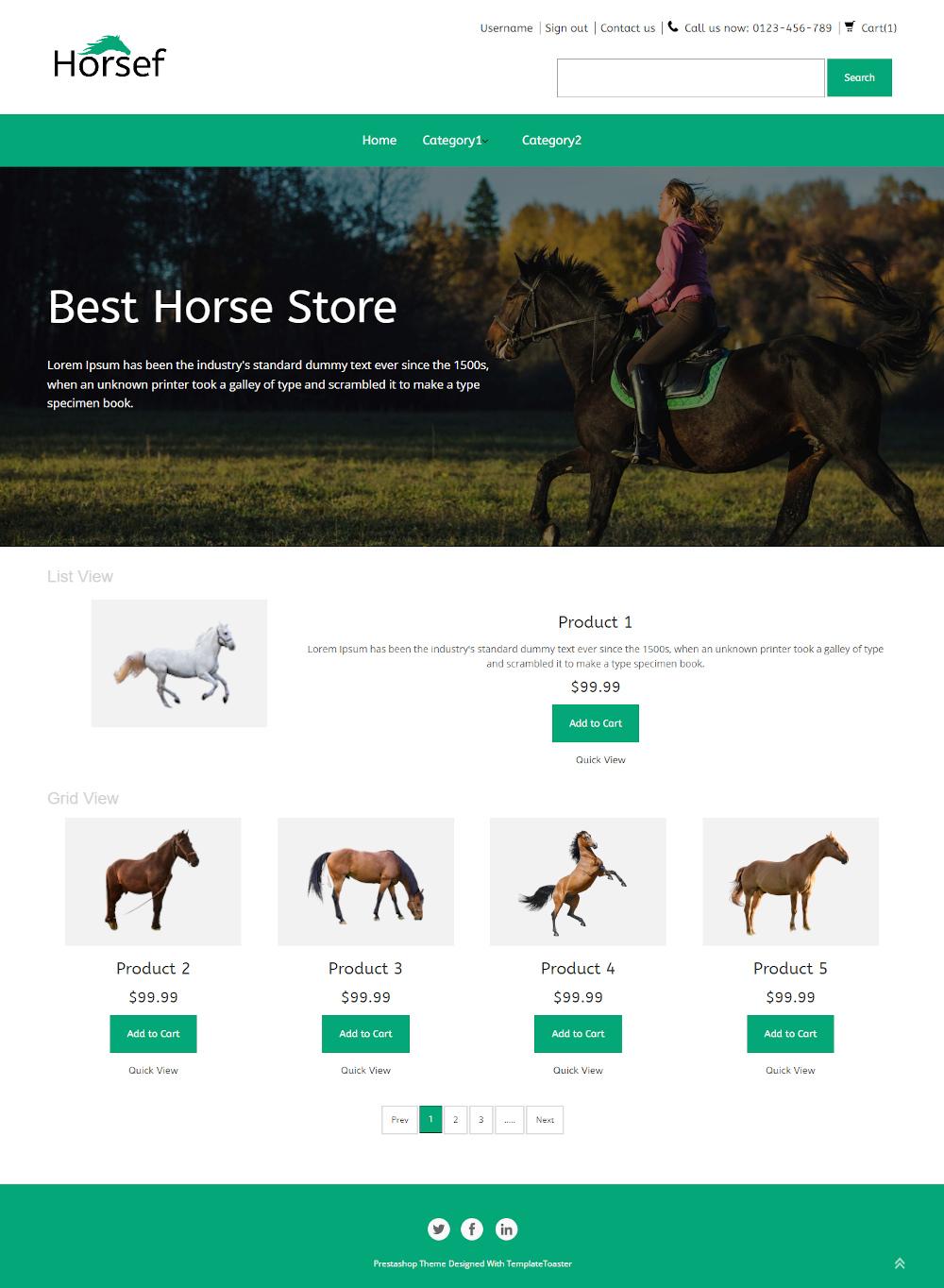 Horserf - Online Horse Store PrestaShop Theme