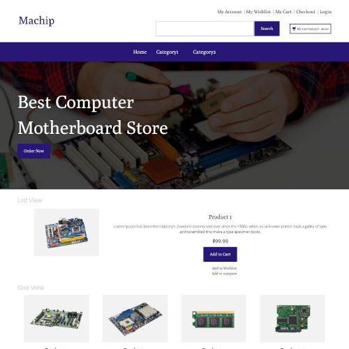Machip - Online Computer Parts Store Magento Theme