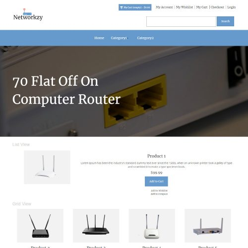 Networkzy - Online Internet Router Store Magento Theme