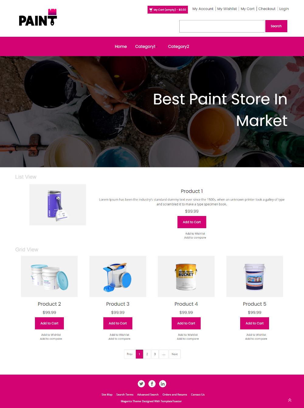Paint - Online Paint Store Magento Theme