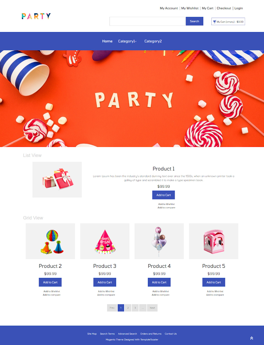 Party Decoration Store Magento Theme