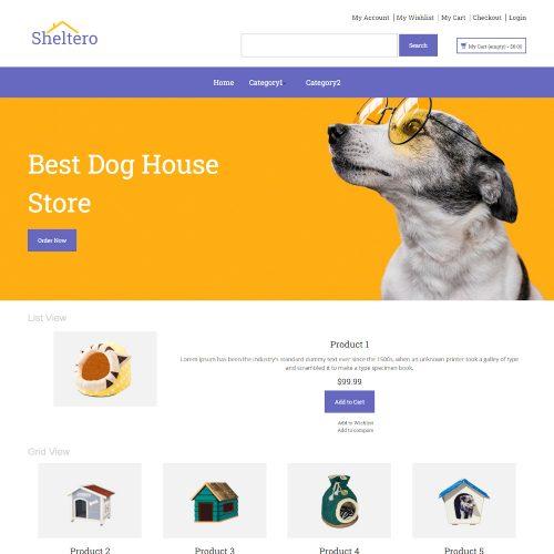 Sheltero - Online Dog Shelter Store Magento Theme