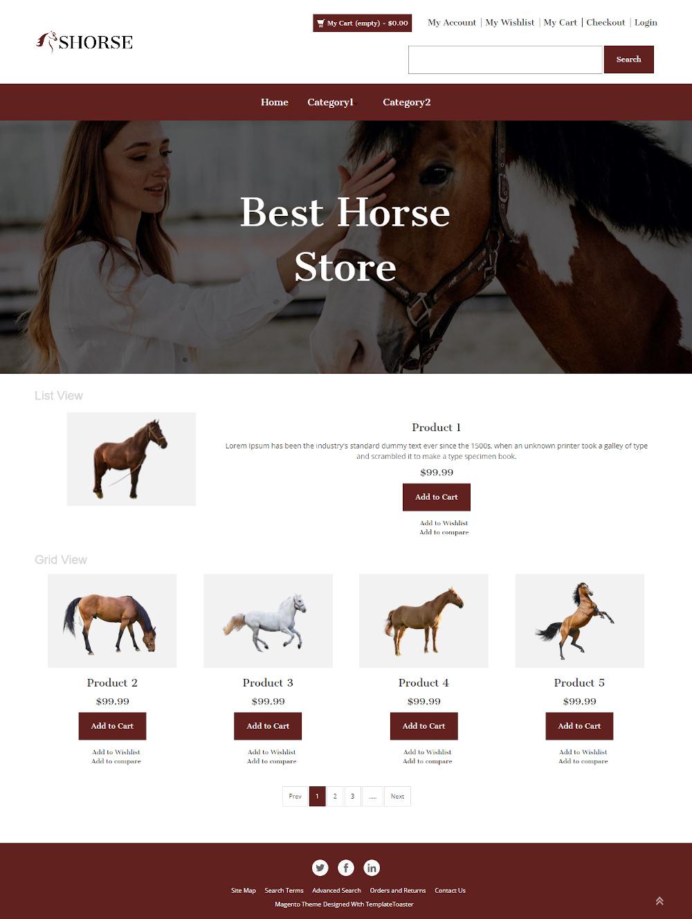 Shorse - Online Horse Store Magento Theme