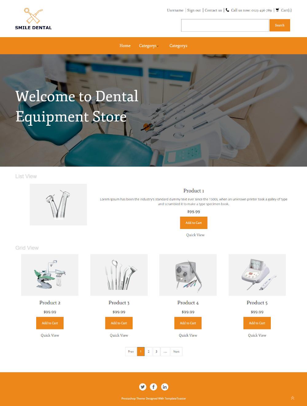 Smile Dental - Online Dental Equipment Store PrestaShop