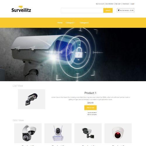 Surveilitz -Online CCTV Camera Store Magento Theme