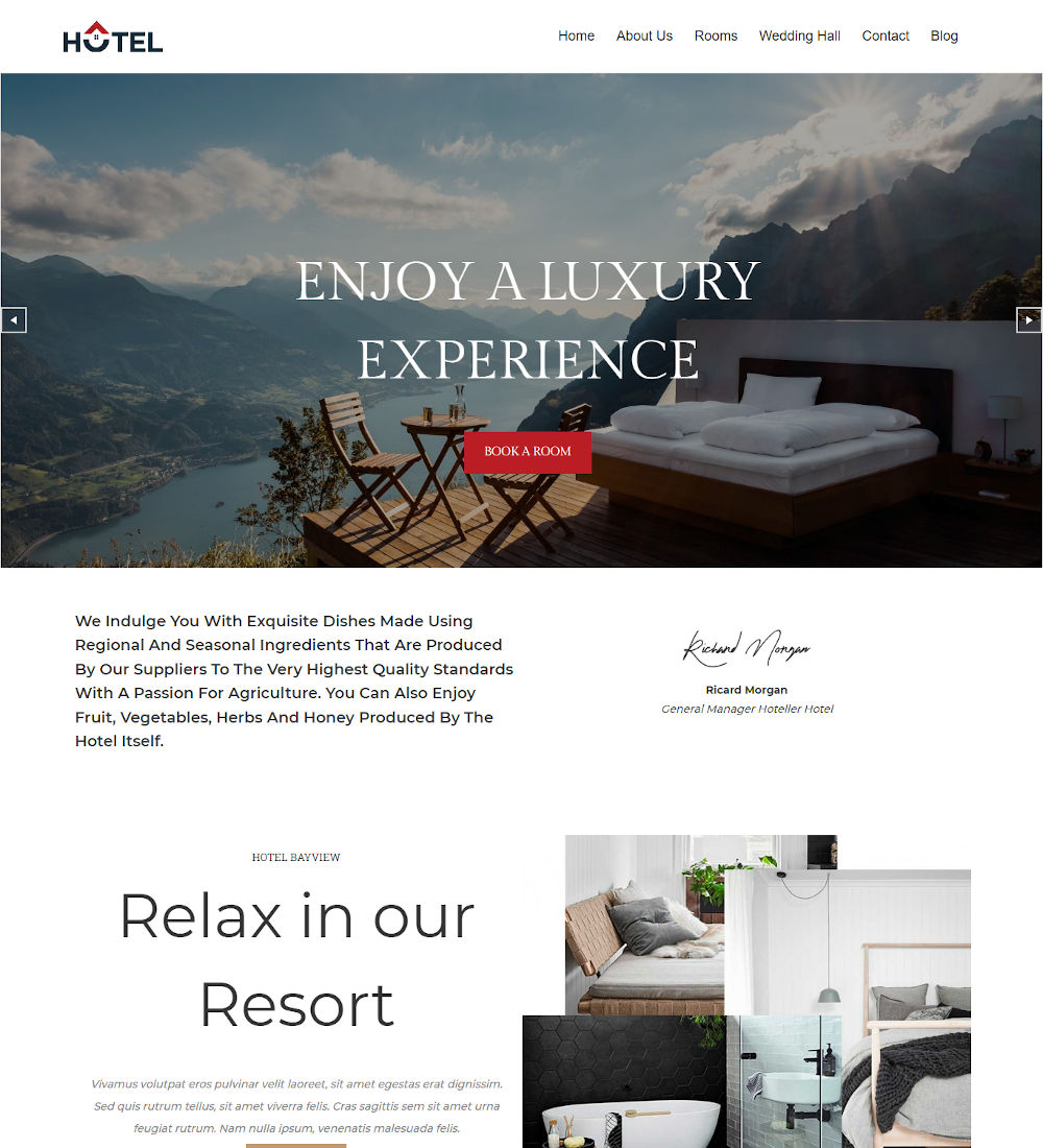 T-Hotel - Hotel Booking Drupal Theme