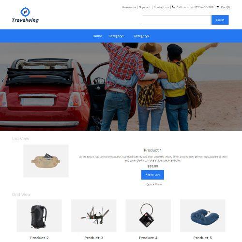 Travelwing - Online Travel Equipment's Store PrestaShop Theme