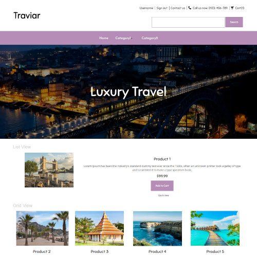 Traviar - Tourist Places PrestaShop Theme