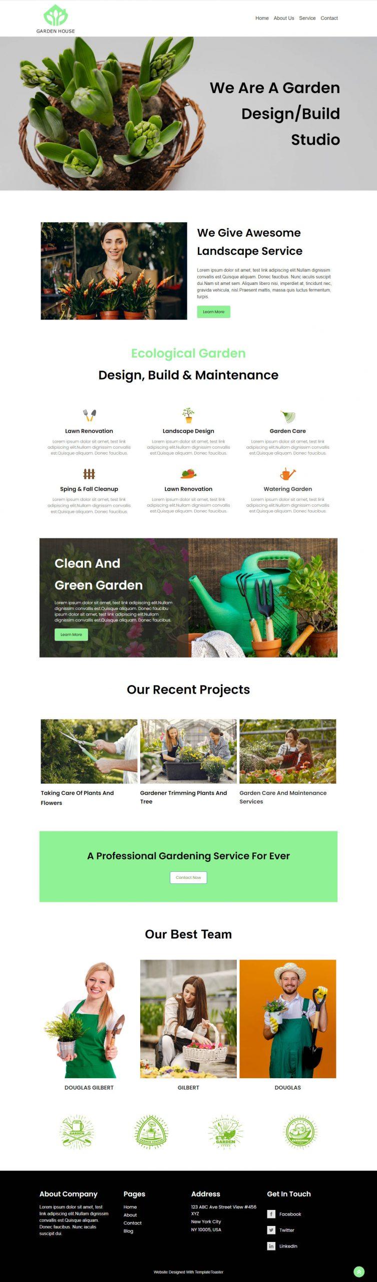 Backyard Lawn - Garden Care Template
