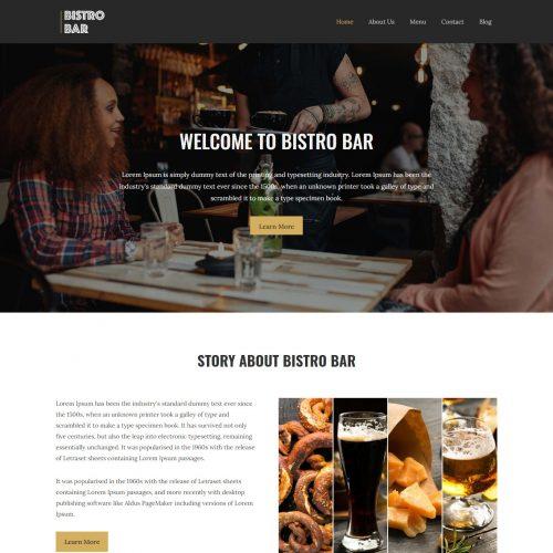 Bistro Bar - Restaurant & Club Template