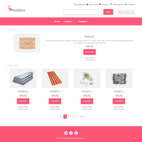 Business and Services OpenCart Themes