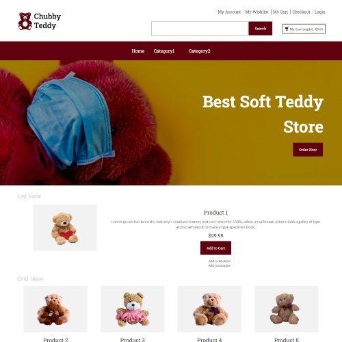 Chubby Teddy - Online Soft Teddy Store Magento Theme