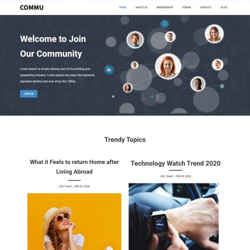 Commu-Social Networking Community Template