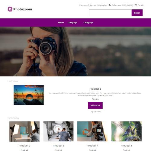 Design and Photography Prestashop Themes