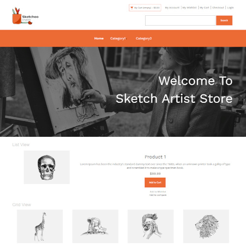 Design and Photography Magento Themes