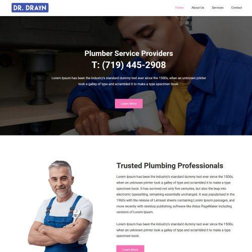 Dr-Drain-Handyman Maintenance Service Template