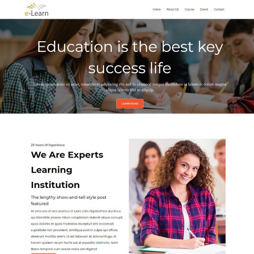 E-Learn-Education-and-Training-Institute-Template
