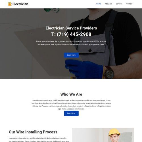 Electrician-Repairing-Electrical-Service-Template