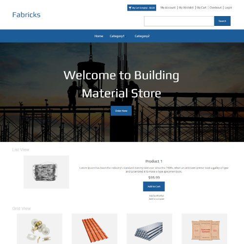 Fabricks - Online Building Materials Store Magento Theme