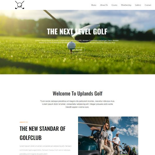 Golfistic-Golf-Club-Template