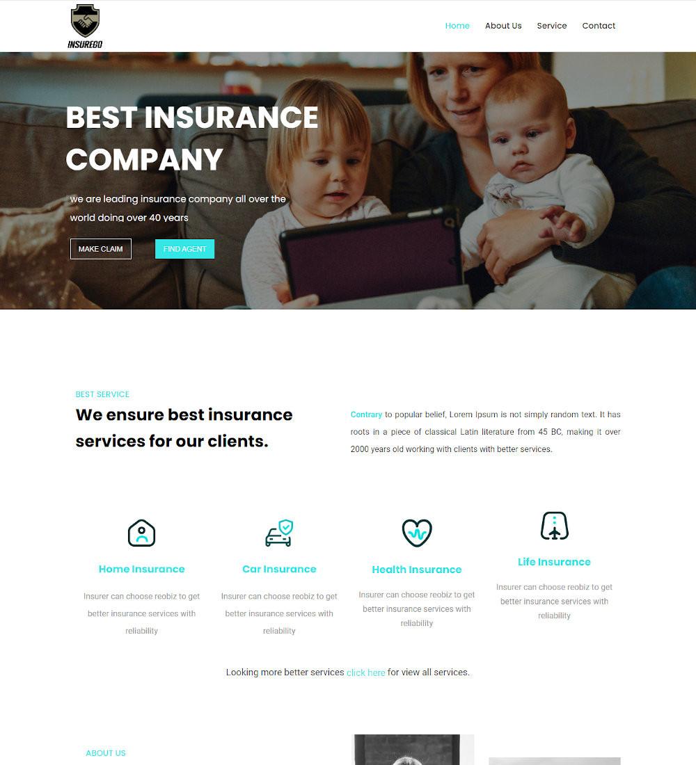Insurego - Insurance Agency Template