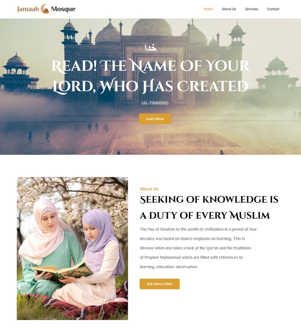 Jamaah-Mosque Islamic Institute Template