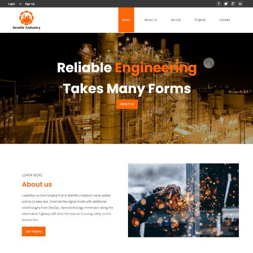 Jevells Industry - Factory and Industrial Template