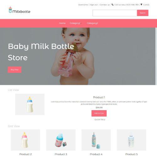 Milkbottle - Online Baby Milk Bottle Store PrestaShop Theme