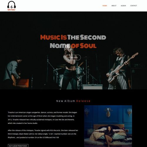 Music Band Artist Music Industry Template