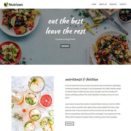 Nutrizen-Diet Health Care Advisor Template