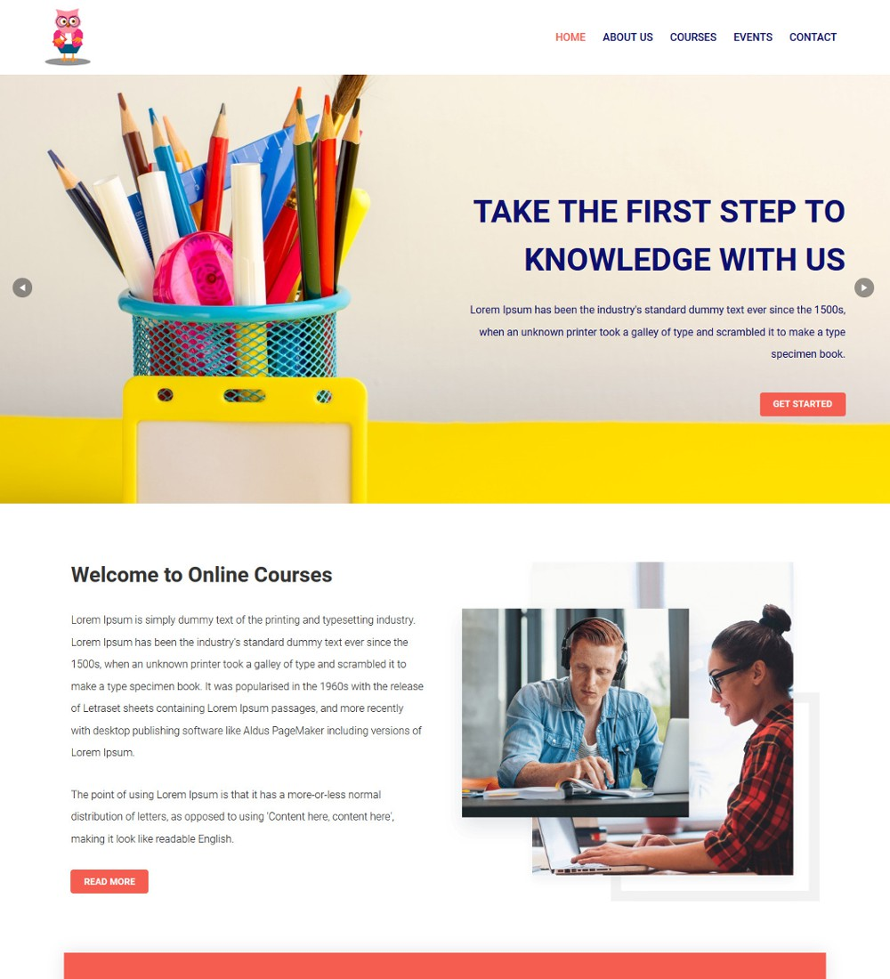 Online-Course Education Coaching Template