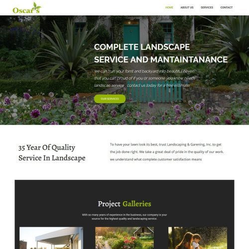 Oscar Landscaping - Lawn Gardening Care Template