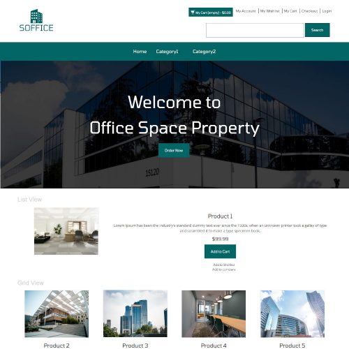 Soffice - Online Office Space Property Store Magento Theme