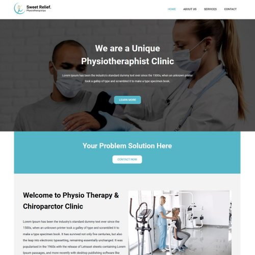 Sweet-Relief-Physical-Therapy-Medical-Clinic-Template
