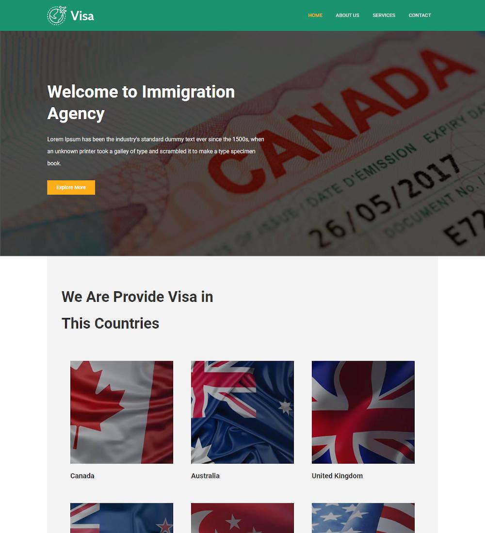 Visa-Immigration-Visa-Consulting-Template