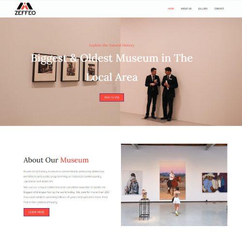 Zeffeo-Museum Art Gallery Exhibition Template