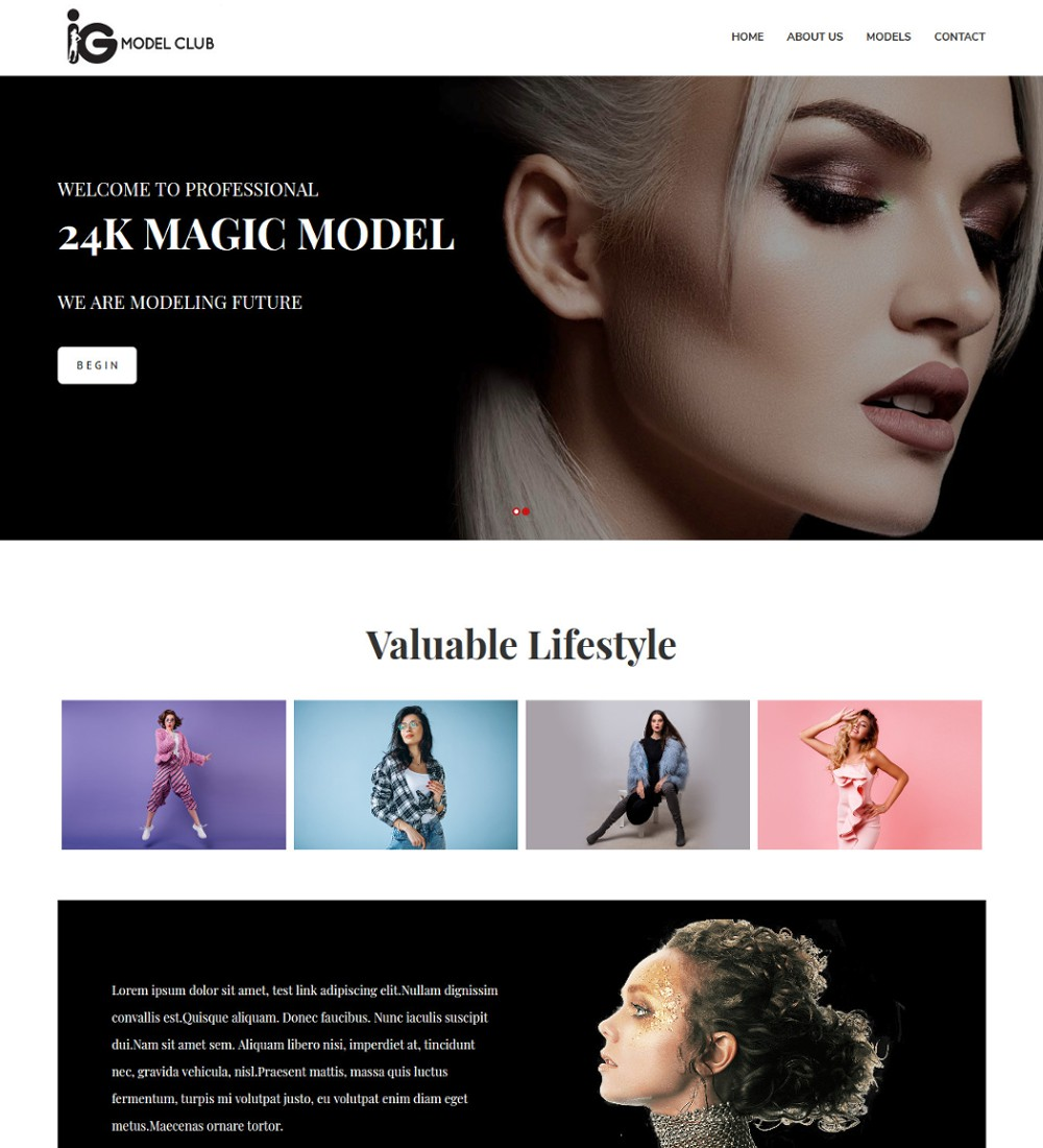 iModel - Club Fashion Modeling Agency Template